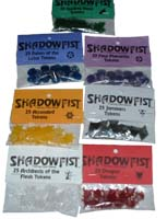 Shadowfist power tokens by Flying Tricycle 2000.