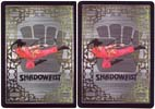 Shadowfist Dark Future card backs. Art copyright 1995 Brian Snoddy and design copyright 1995 Jesper Myrfors. Used with permission.