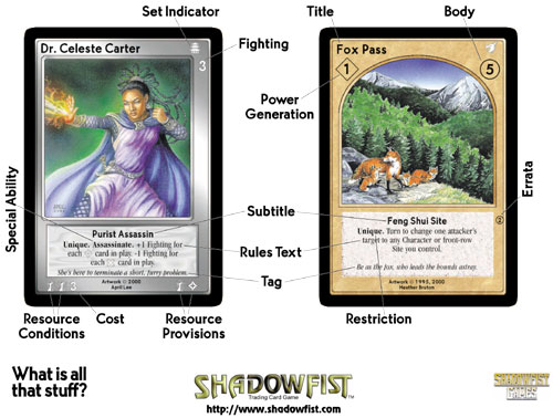 Shadowfist Demo Sheet: Card Anatomy