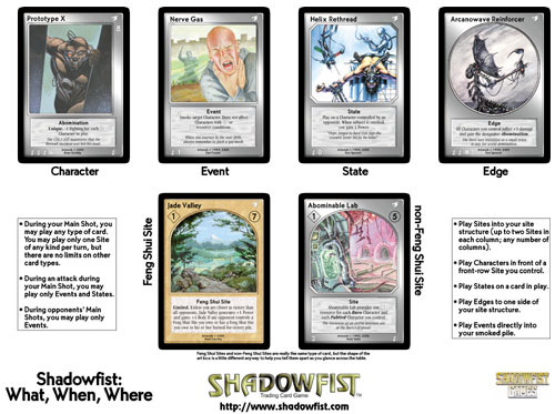 Shadowfist Demo Sheet: Card Type