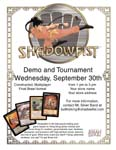 Downloadable, fillable Shadowfist tournament advertising flyer